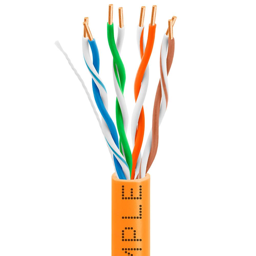 Cat5e Bulk Ethernet Cable 24AWG CCA 350MHz 1000feet Orange