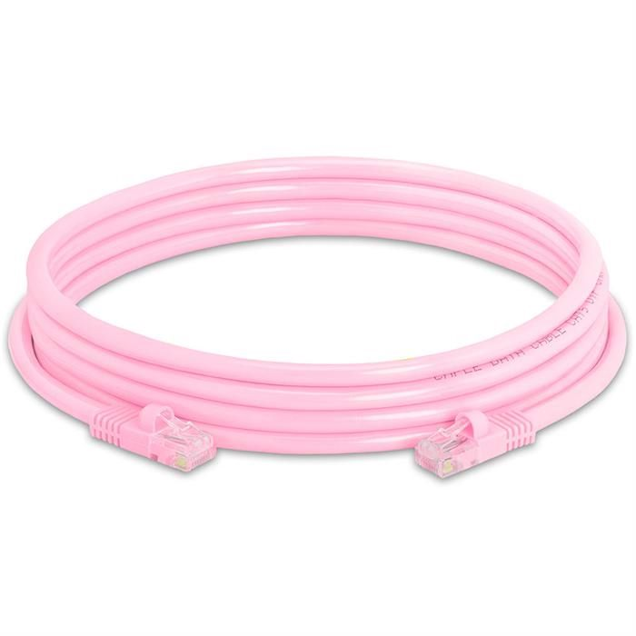 High Speed Lan Cat5e Patch Cable 10FT Pink