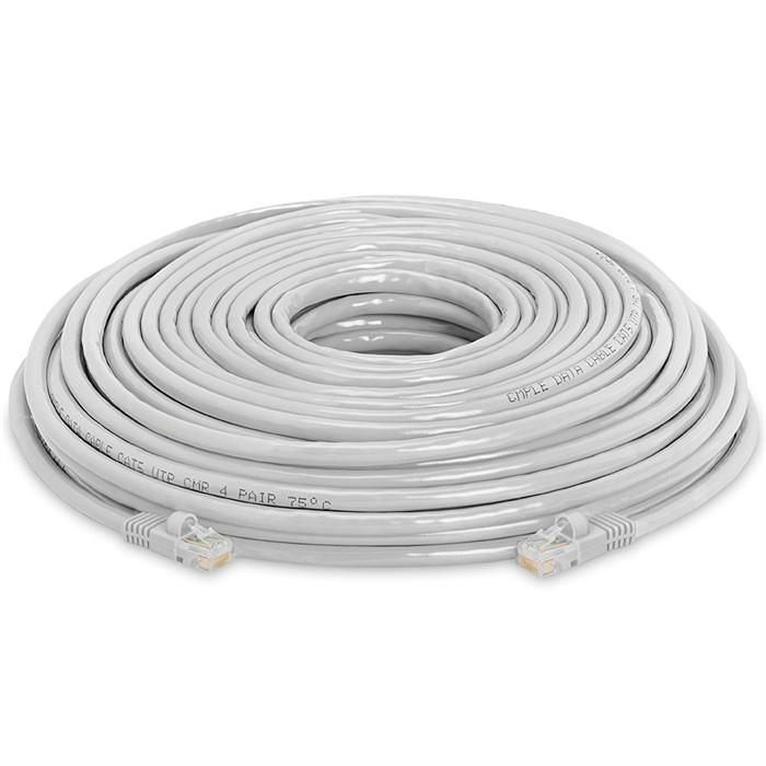 High Speed Lan Cat5e Patch Cable 100FT Gray
