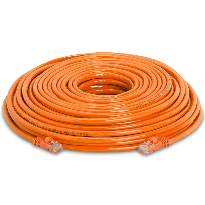 High Speed Lan Cat5e Patch Cable 100FT Orange