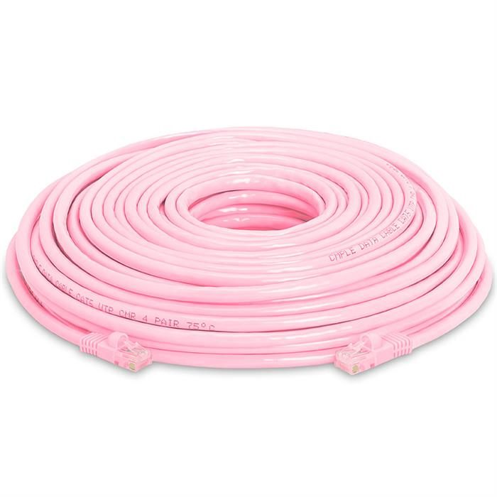 High Speed Lan Cat5e Patch Cable 100FT Pink