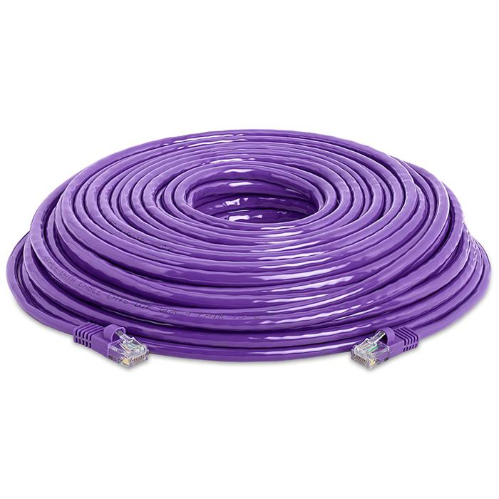 High Speed Lan Cat5e Patch Cable 100FT Purple