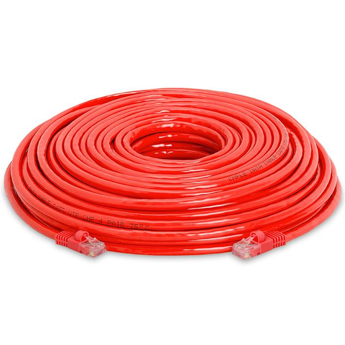 High Speed Lan Cat5e Patch Cable 100FT Red