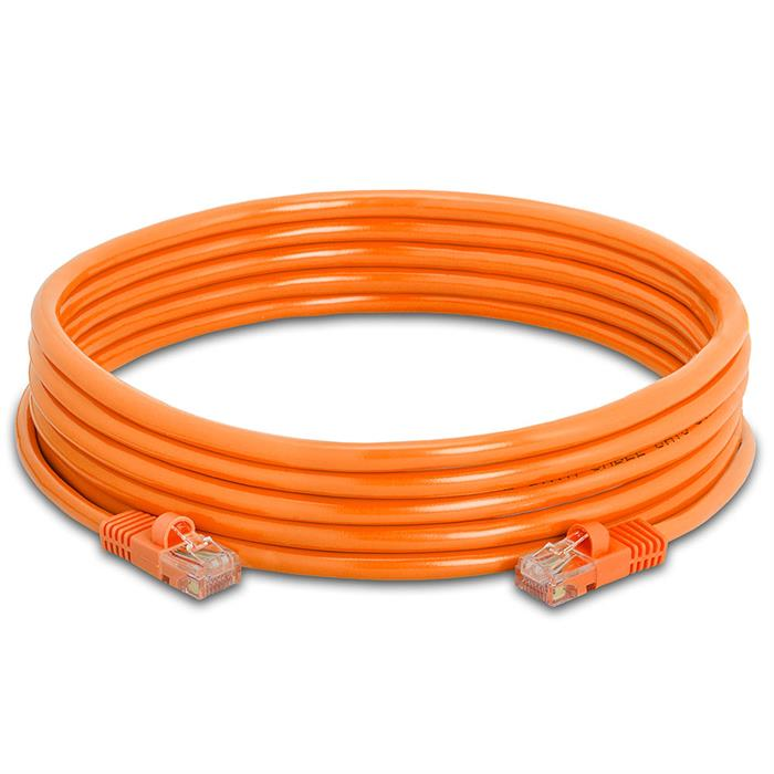 High Speed Lan Cat5e Patch Cable 15FT Orange