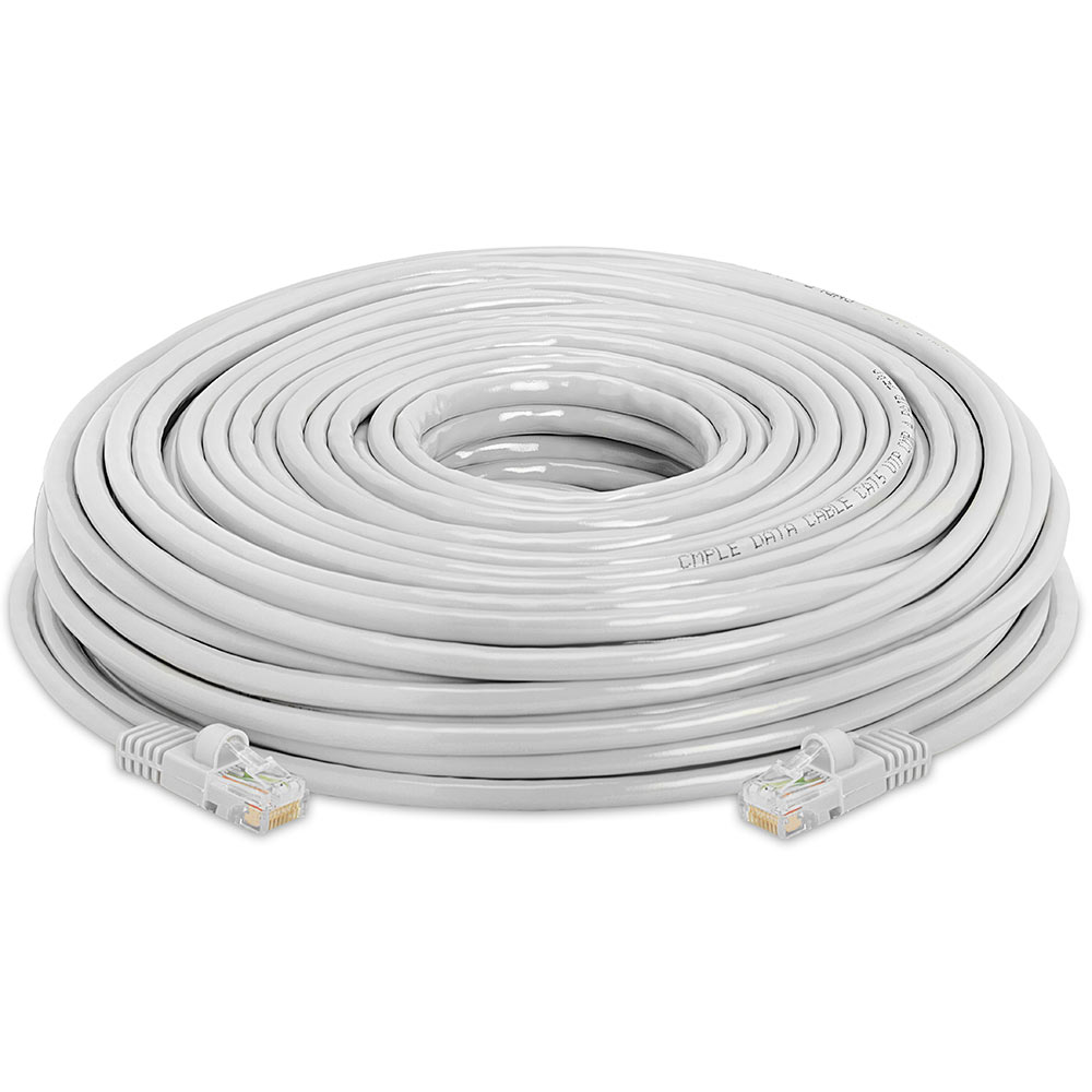 Gray 1000MBPS RJ45 CCA CAT5 E Ethernet Patch Cable - 175 feet