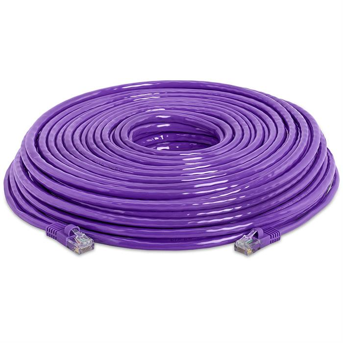 High Speed Lan Cat5e Patch Cable 150FT Purple