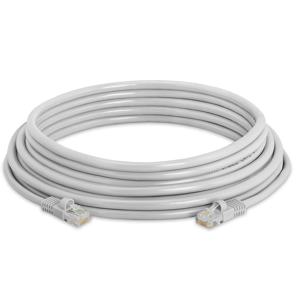RJ45 Cat5e Ethernet LAN Network Gray Cable with molded strain relief ...