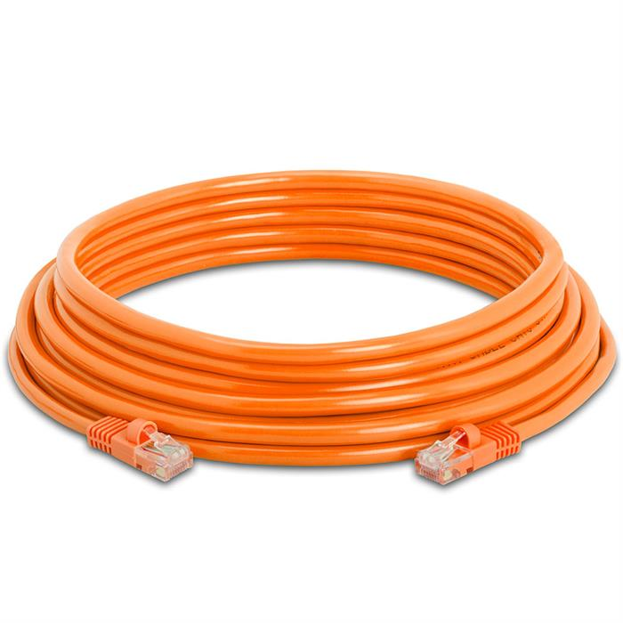 High Speed Lan Cat5e Patch Cable 25FT Orange