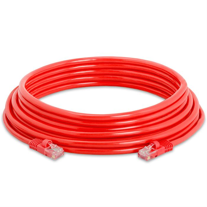 High Speed Lan Cat5e Patch Cable 25FT Red