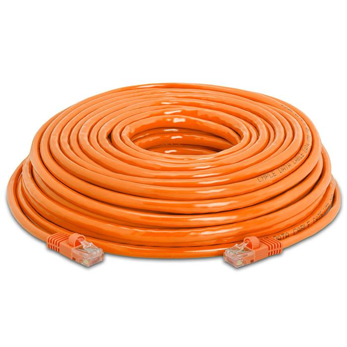 High Speed Lan Cat5e Patch Cable 50FT Orange