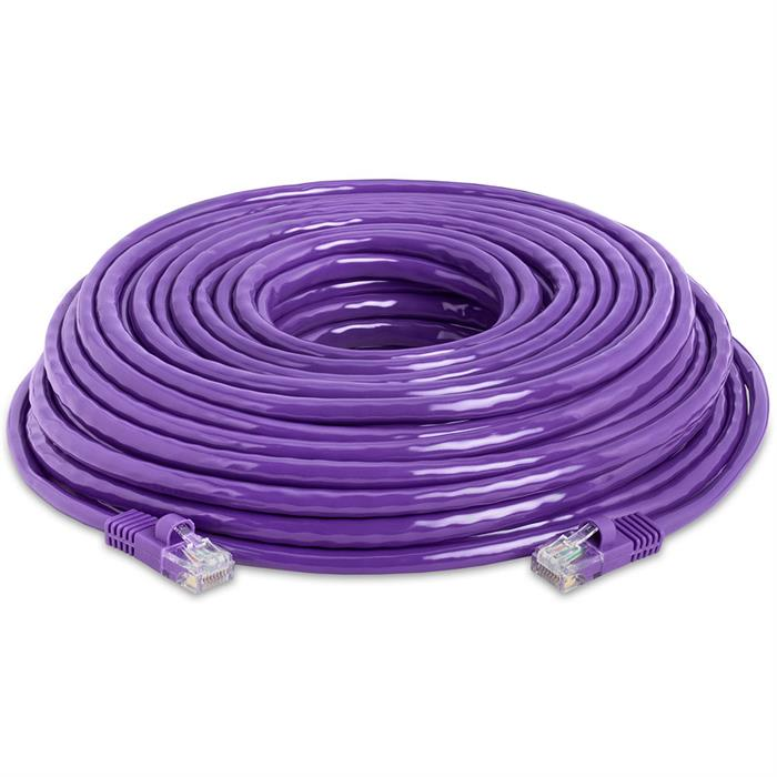 High Speed Lan Cat5e Patch Cable 50FT Purple