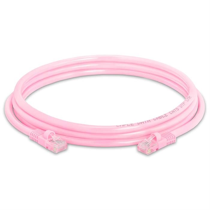 High Speed Lan Cat5e Patch Cable 7FT Pink