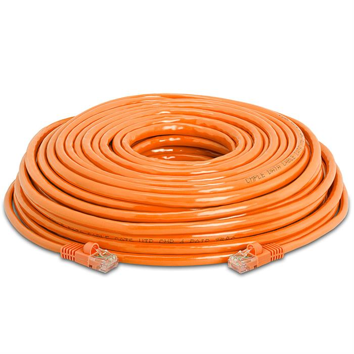 High Speed Lan Cat5e Patch Cable 75FT Orange