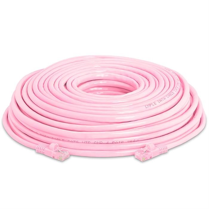 High Speed Lan Cat5e Patch Cable 75FT Pink