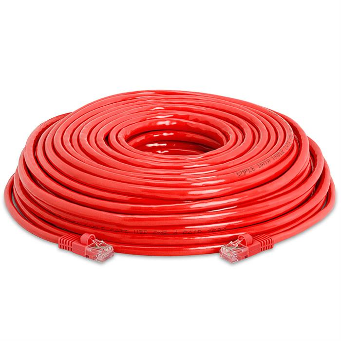 High Speed Lan Cat5e Patch Cable 75FT Red