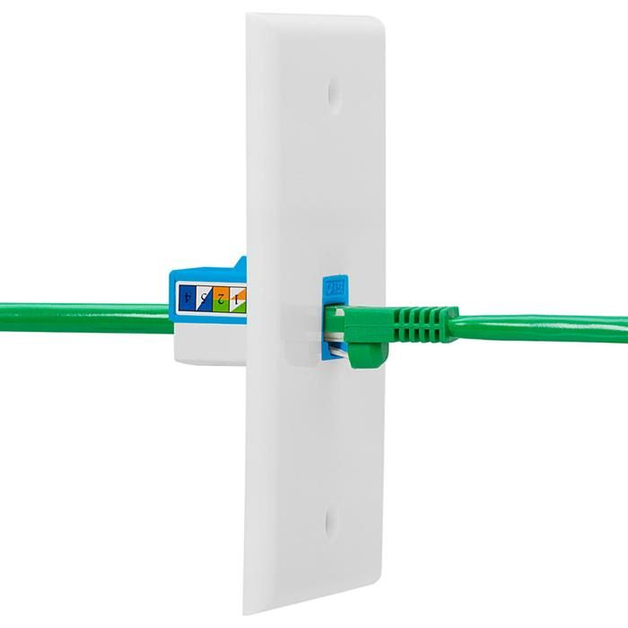 Cat5e Punch Down Keystone Jack - Blue