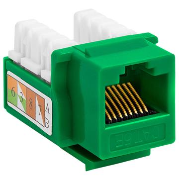 Cat5e Punch Down Keystone Jack - Green