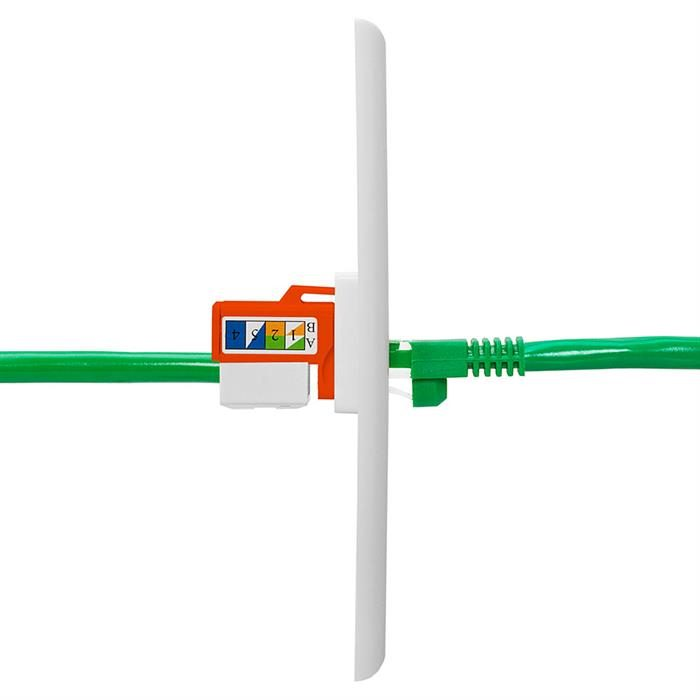 Cat5e Punch Down Keystone Jack - Orange