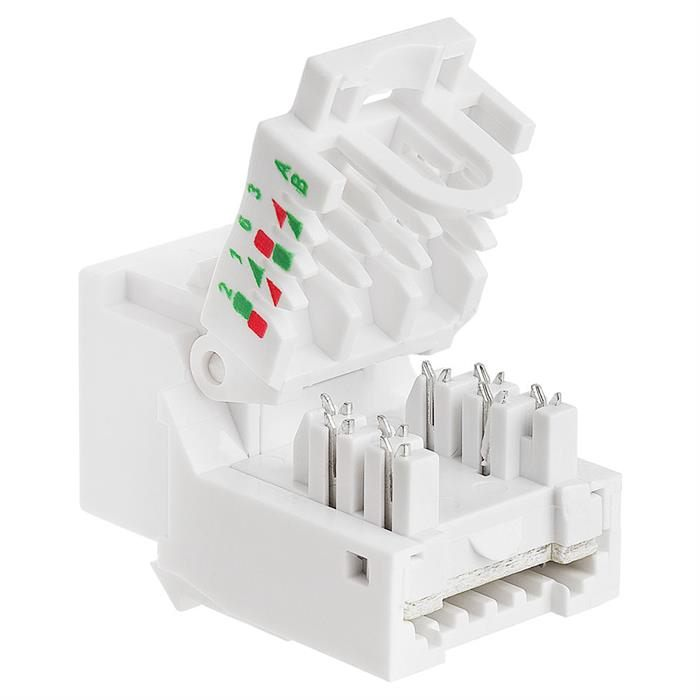 Cat5e RJ-45 Tooless Keystone Jack - White