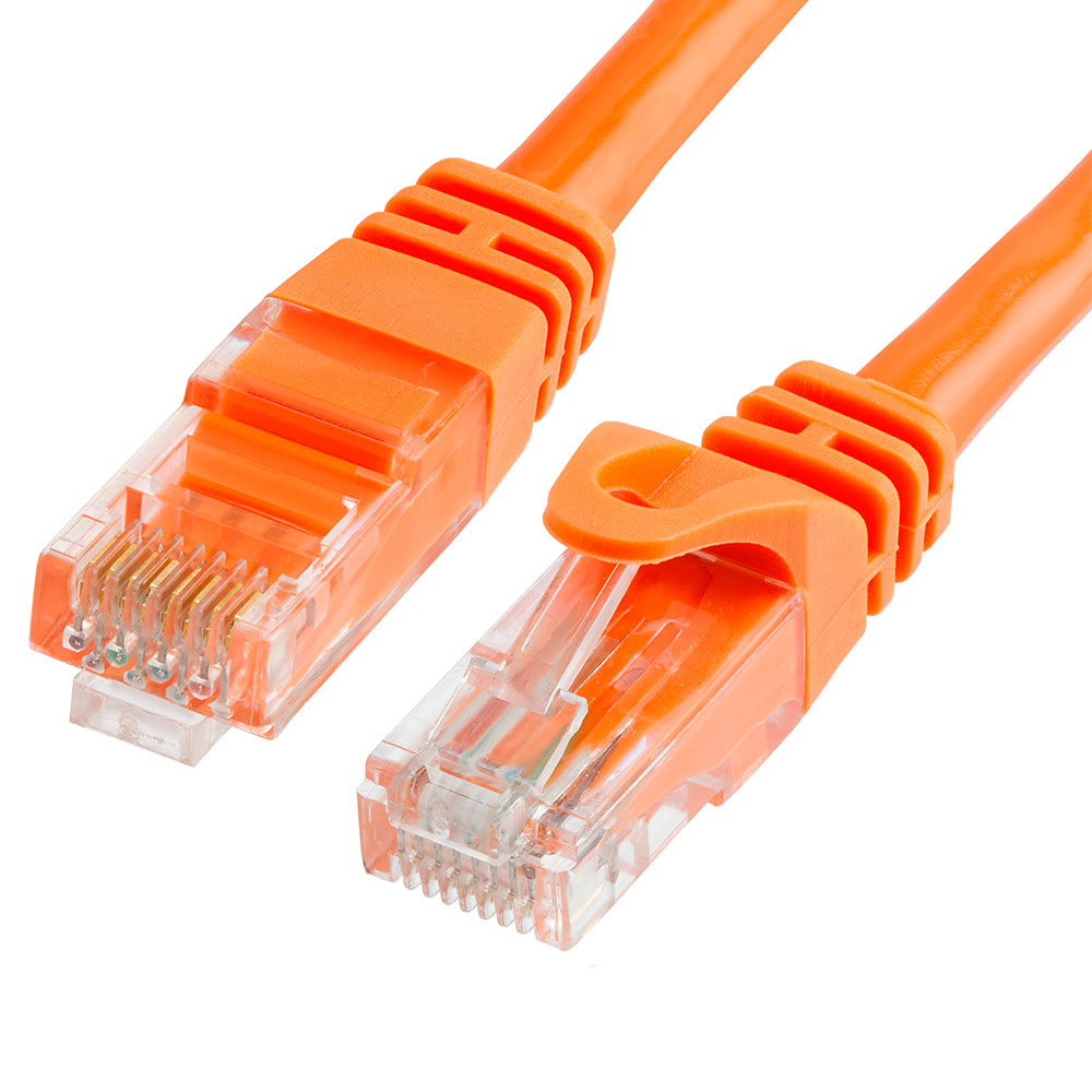 50ft Cat5e Rj45 Network Lan Router Ethernet Internet Patch Cable Cord Cca Orange Networking Cables & Adapters Computer Cables & Connectors