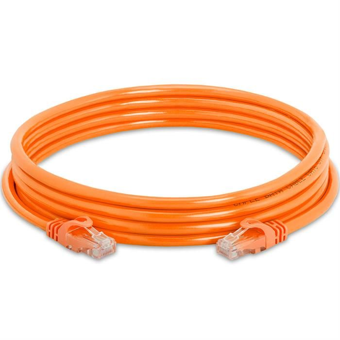 High Speed Lan Cat6 Patch Cable 10FT Orange