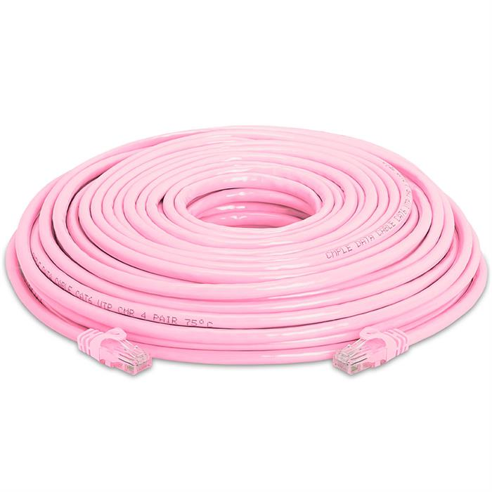 High Speed Lan Cat6 Patch Cable 100FT Pink