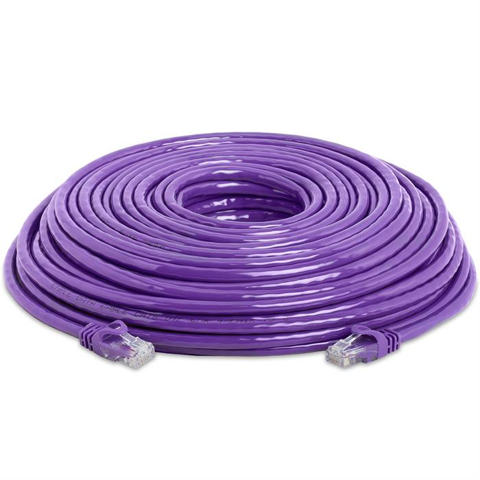 High Speed Lan Cat6 Patch Cable 100FT Purple