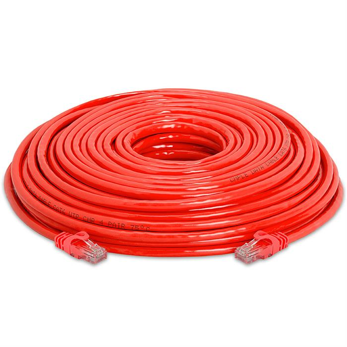 High Speed Lan Cat6 Patch Cable 100FT Red