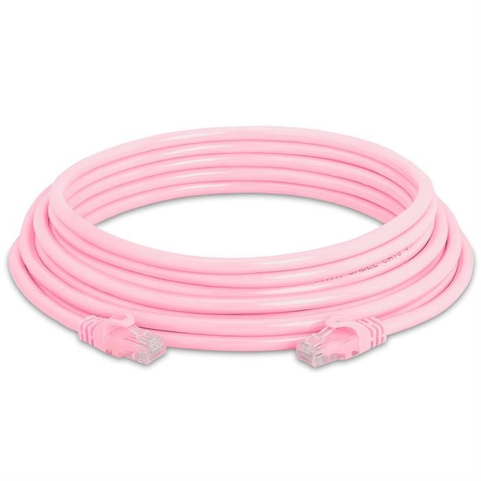 High Speed Lan Cat6 Patch Cable 25FT Pink
