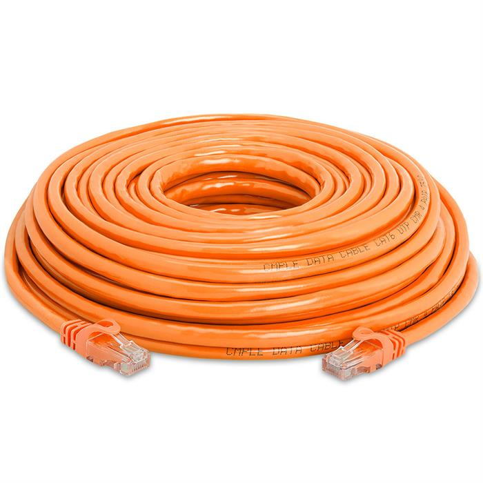 High Speed Lan Cat6 Patch Cable 50FT Orange