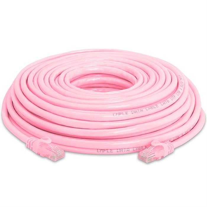 High Speed Lan Cat6 Patch Cable 50FT Pink