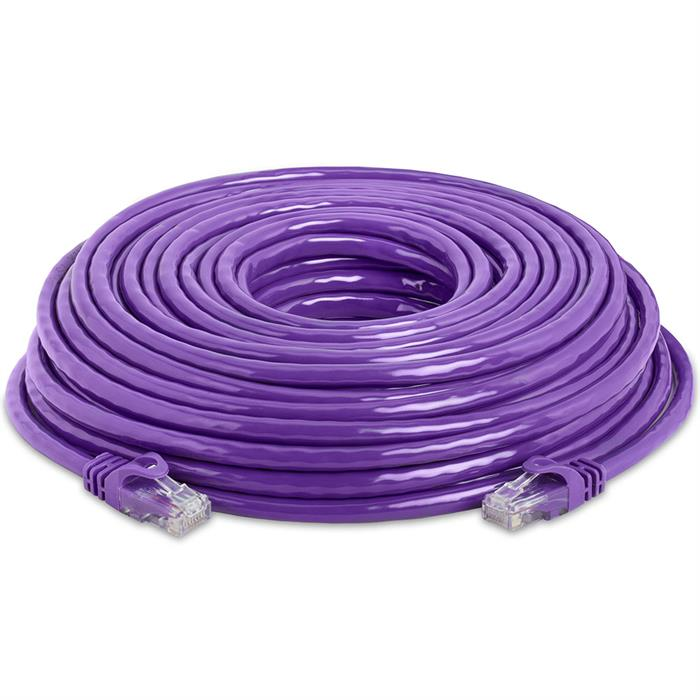 High Speed Lan Cat6 Patch Cable 50FT Purple