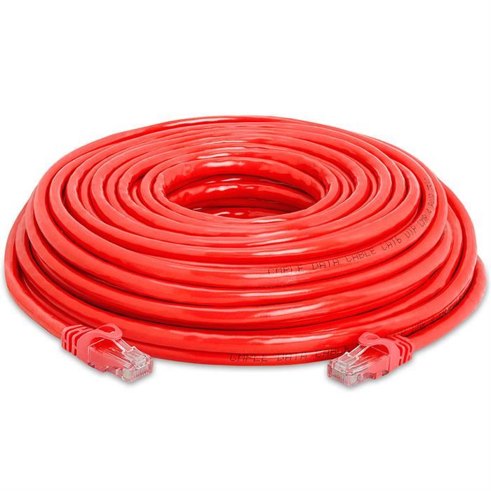 High Speed Lan Cat6 Patch Cable 50FT Red