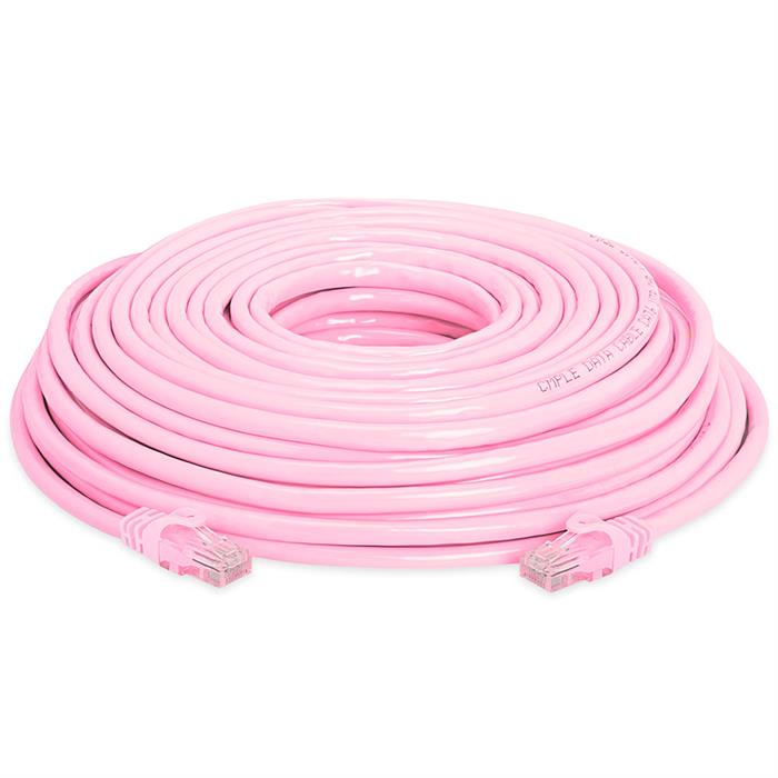 High Speed Lan Cat6 Patch Cable 75FT Pink
