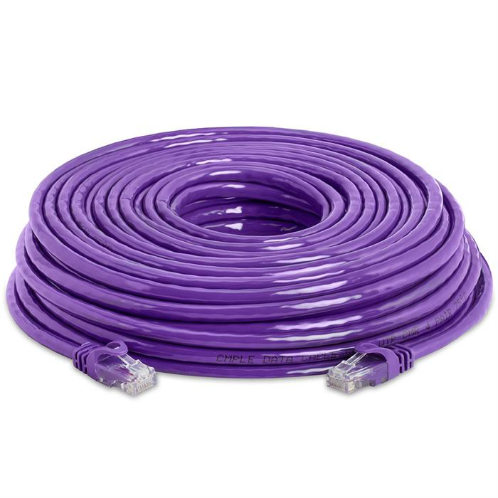 High Speed Lan Cat6 Patch Cable 75FT Purple