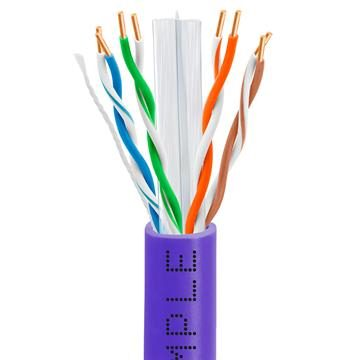 Cat6 Bulk Ethernet/LAN Cable 23AWG CCA 550MHz 1000 Feet Purple