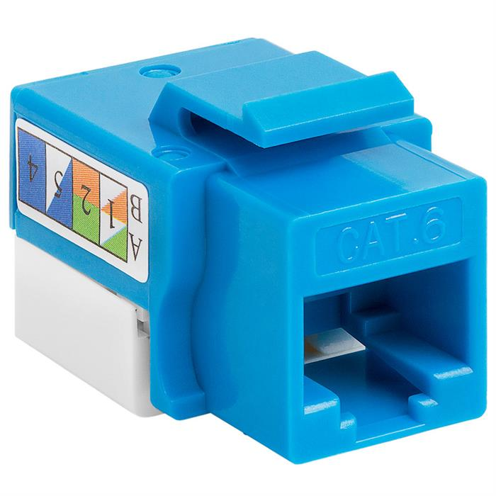 Cat6 Punch Down Keystone Jack - Blue