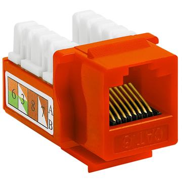 Cat6 Punch Down Keystone Jack - Orange
