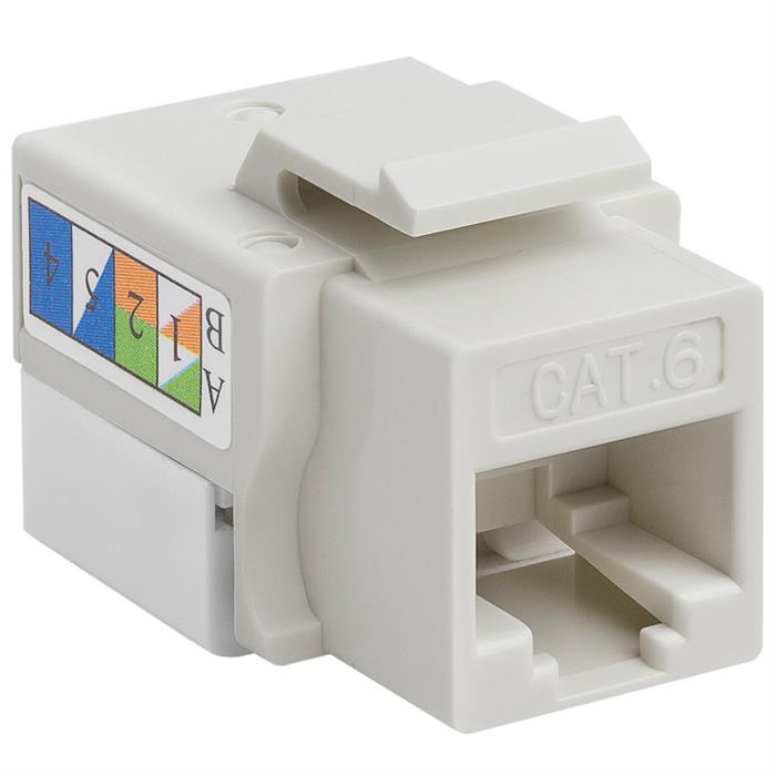 Cat6 Punch Down Keystone Jack - White