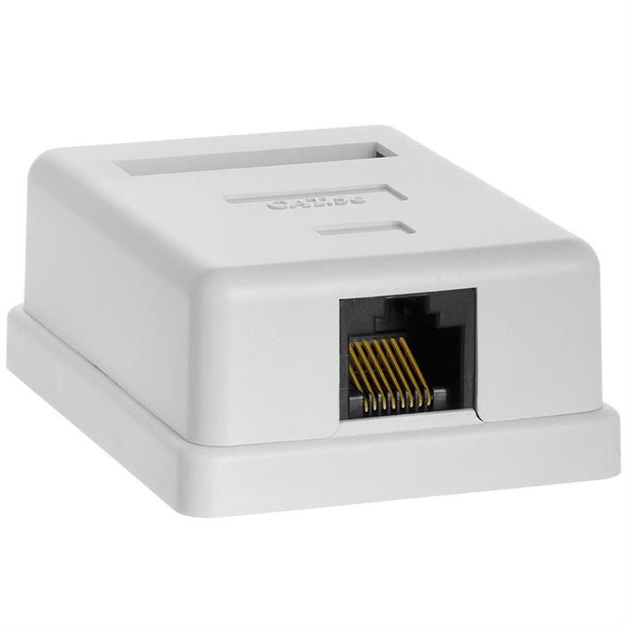 Surface Mount Box Cat5e Single WHITE