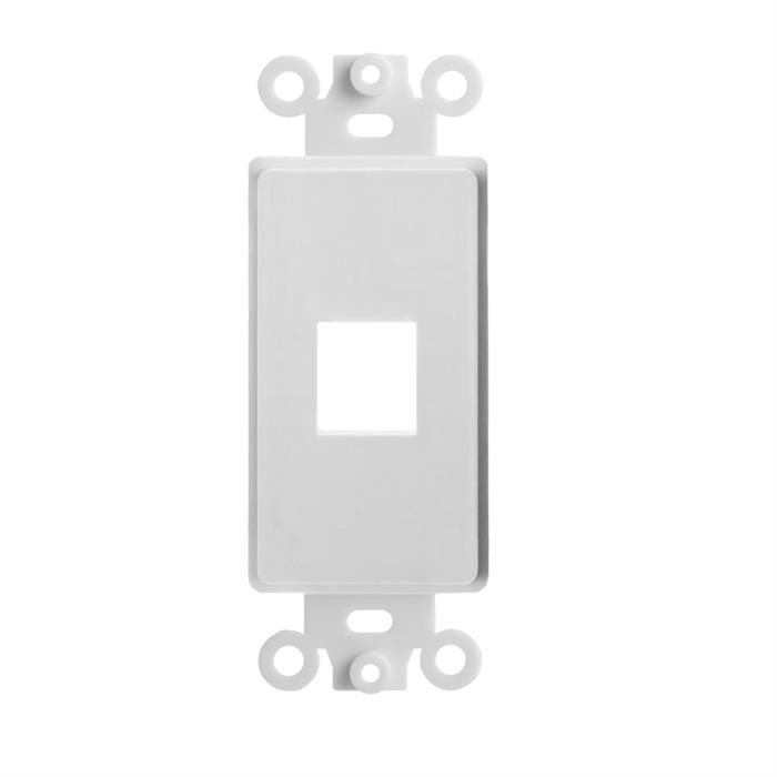 Cmple - 1 Port Decora Wall Plate 1-Gang Keystone Decora Insert, Jack Single Gang Decora Wall Plate