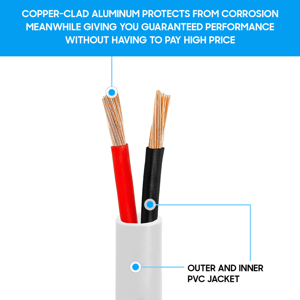 audio speaker cable wiring 12awg cl2 rated two conductor loud speaker cable     100feet  12awg cl2 rated two conductor loud