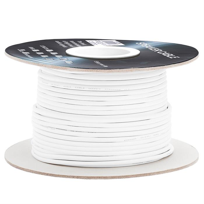Cmple - 250FT 18AWG Speaker Wire Cable with 2 Conductor Speaker Cable (CCA) Copper Clad Aluminum CL2 Rated In-Wall Speaker Wire for Home Theater & Car Audio - 250 Feet, White