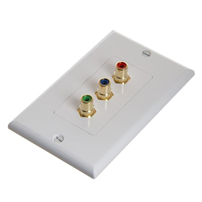 RCA Wall Plate For Component Video 3-RCA