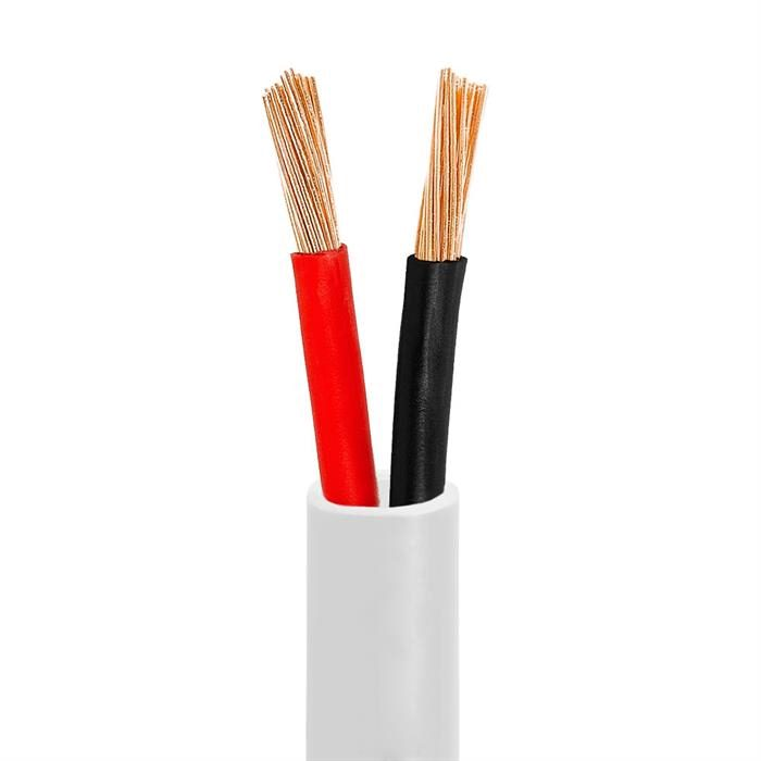 12AWG CL2-Rated Two-Conductor In-Wall Speaker Cable – 50 Feet