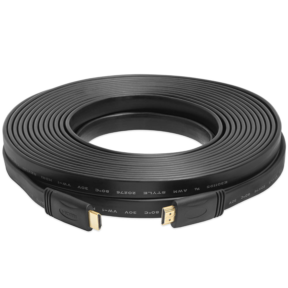 Hdmi High Speed Flat Cable Cl2 Rated For In Wall 24awg 10ft