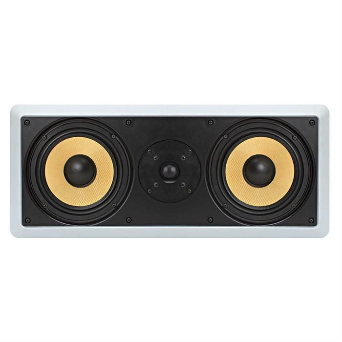 "6.5"" Surround Sound 2-Way In-Wall In-Ceiling Center Aramid Fiber Speaker - Rectangular"