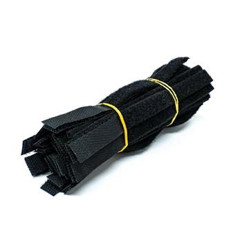 "6 inch Velcro Strap 1/2 "" Width - 50PCS Pack, Black"