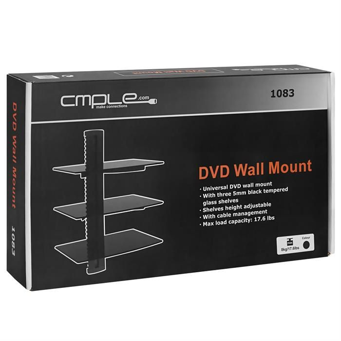 Package - 3 Floating Shelves with Tempered Glass