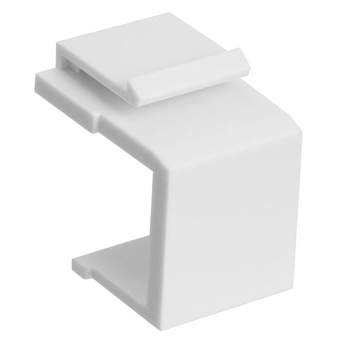 Cmple – Blank Keystone Jack Inserts for Keystone Wallplate, Blank Insert for Wall Plate - 10 Pack, White